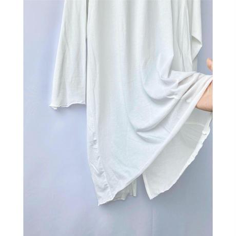 twist cotton back slit tops