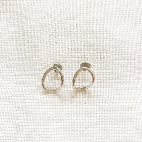 mini silver  pierce