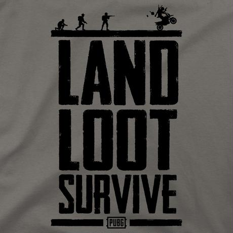 PUBG LAND LOOT SURVIVE Tシャツ