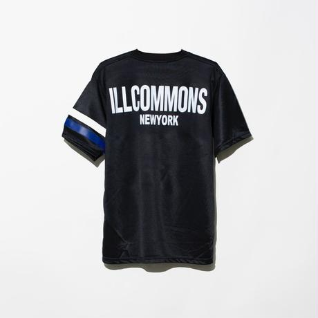 ILLCOMMONS FOOTBALL JERSEY T-SHIRTS BLACK(イルコモンズ フットボールジャージTシャツ ブラック)