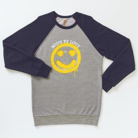 MBW apparel NICO RAGLAN SWEAT GRAY×BLACK (エムビ-ダブリュー アパレル ニコ ラグラン スウェット グレー×ブラック)