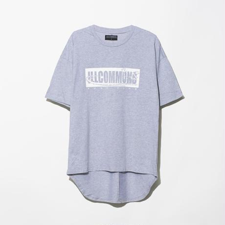 ILLCOMMONS ROUND HEM BOX LOGO T-SHIRTS GREY(イルコモンズ ラウンドヘム ボックスロゴ Tシャツ グレー)