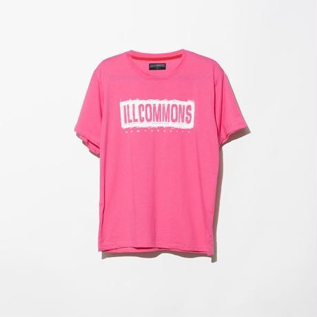 ILLCOMMONS PAINT BOX LOGO  T-SHIRTS PINK(イルコモンズ ペンキボックスロゴ Tシャツ ピンク)