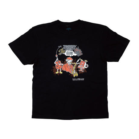 【vobahead×ハットリ】JOURNEY INTO the ISLAND sounds  TEE (BLACK)