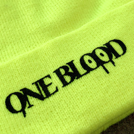 【TAPPOI ORIGINAL BRAND】ONE BLOOD REGULAR KNIT CAP(NEON YELLOW)