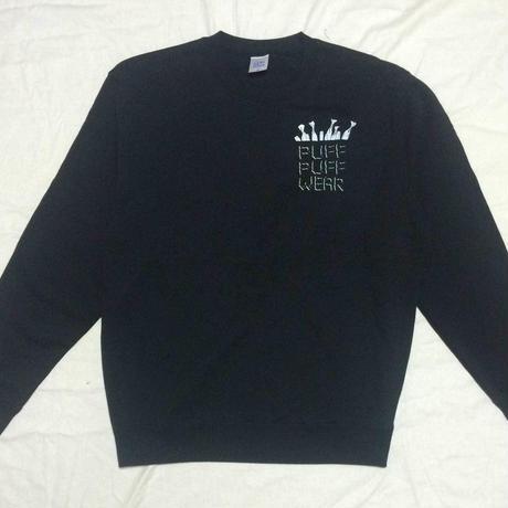 ノーポケ CREW NECK SWEAT (BLACK)