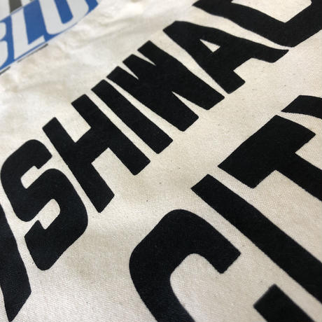 【KISHIWADA CITY】CANVAS TOTE ECOBAG(NATURAL/BLACK)
