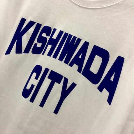 【KISHIWADA CITY】KISHIWADA CITY REP  LONG SLEEVE TEE(WHITE)