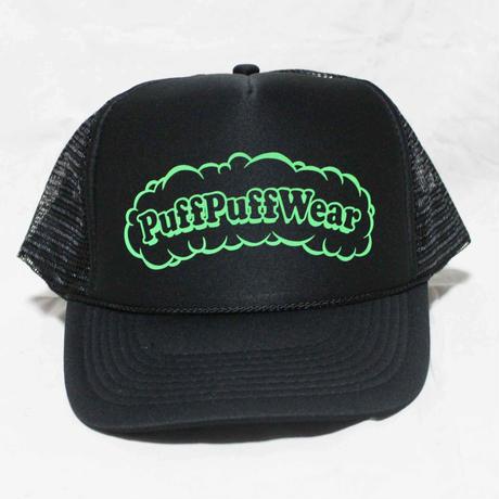 Puff Puff MESH CAP (BLACK/LIGHT GREEN)