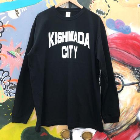 【KISHIWADA CITY】KISHIWADA CITY REP  LONG SLEEVE TEE(BLACK)