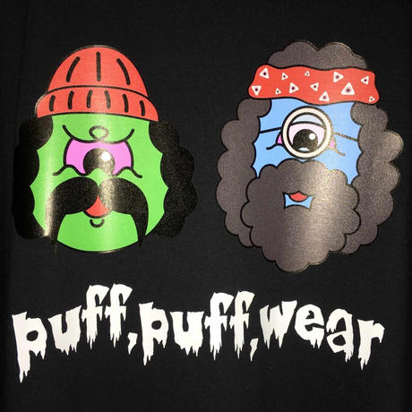 PUFF PUFF MONSTERS TEE (BLACK)