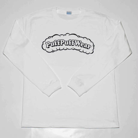 Puff Puff LONG SLEEVE TEE (WHITE)
