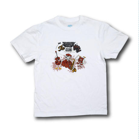 【vobahead×ハットリ】JOURNEY INTO the ISLAND sounds  TEE (WHITE)