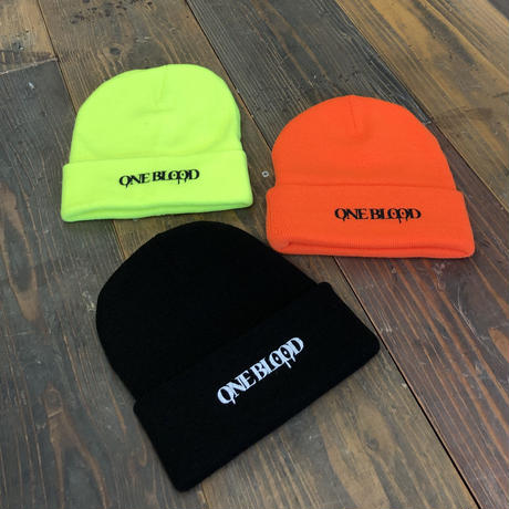 【TAPPOI ORIGINAL BRAND】ONE BLOOD REGULAR KNIT CAP(NEON ORANGE)