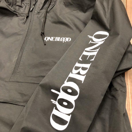 ONE BLOOD Windbreaker Anorak Jacket (BLACK)