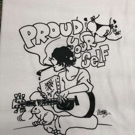 【JUNK-R】PROUD YOUR SELF TEE (WHITE)