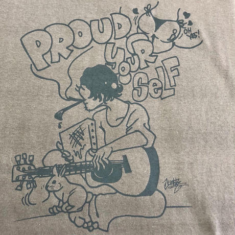 【JUNK-R】PROUD YOUR SELF TEE (CHARCOAL)