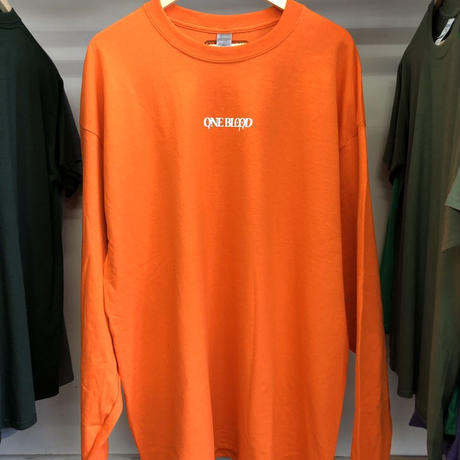 【TAPPOI ORIGINAL BRAND】ONE BLOOD REGULAR LONG SLEEVE TEE(ORANGE/WHITE)
