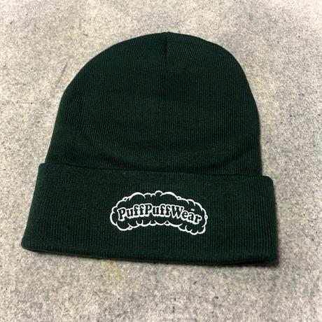 【RENEWAL】Puff Puff KNIT CAP(DARK GREEN)