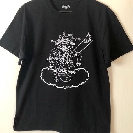 【コラボ】パフパフ野槌 TEE   (BLACK)