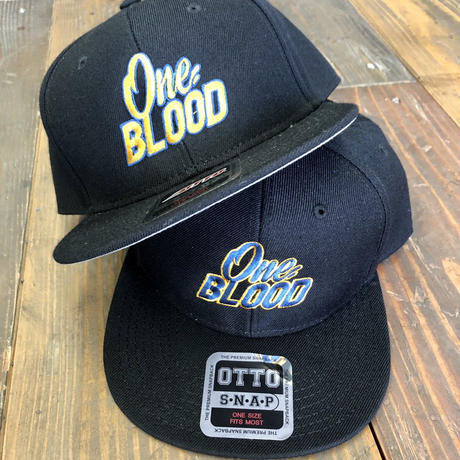 【TAPPOI ORIGINAL BRAND】ONE BLOOD Grafica Embroidery SNAPBACK CAP (BLACK②)