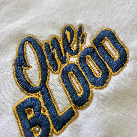 【TAPPOI ORIGINAL BRAND】ONE BLOOD Grafica Embroidery TEE(WHITE)