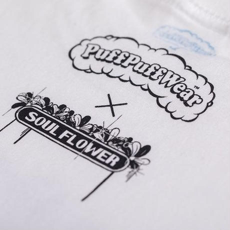 【Yossy from SOUL FLOWER】PuffPuff Flower TEE  (WHITE)