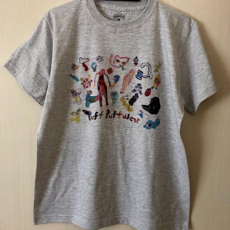 【コラボ】yokai_puff_cloud TEE  (ASH GRAY)