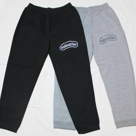 【裏起毛】Puff Puff  SWEAT PANTS (BLACK/WHITE)