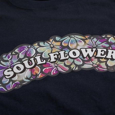 【Yossy from SOUL FLOWER】PuffPuff Flower TEE  (DARK NAVY)