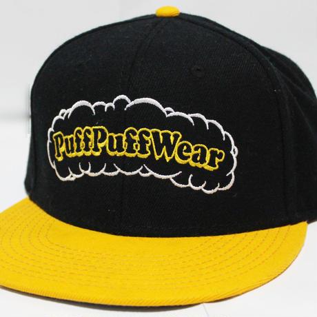 【刺繍】Puff Puff SNAPBACK CAP (BLACK/YELLOW)
