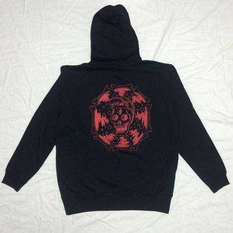 マザファキ HOOD PARKA (BLACK/RED)