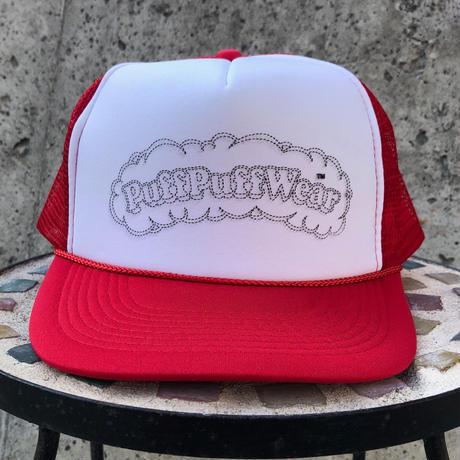 PuffPuff Stitch MESH CAP (RED/BLACK)