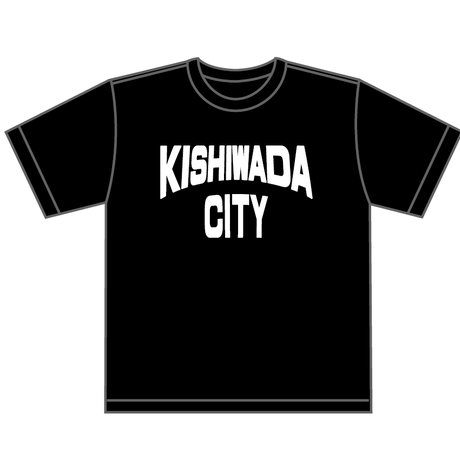 【KISHIWADA CITY】KISHIWADA CITY REP TEE(BLACK)