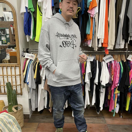 【KISHIWADA CITY】TAGGING HEAVY PILE  HOOD PARKA(GRAY)