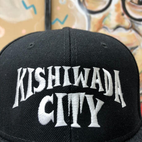 【KISHIWADA CITY】 POP CITY SNAPBACK CAP (BLACK)