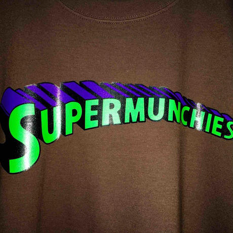SUPER MUNCHIES TEE(BROWN)