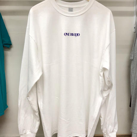 【TAPPOI ORIGINAL BRAND】ONE BLOOD REGULAR LONG SLEEVE TEE(WHITE/PURPLE)