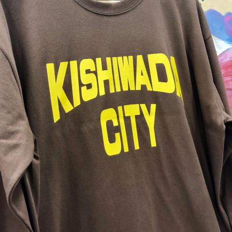【KISHIWADA CITY】KISHIWADA CITY REP  LONG SLEEVE TEE(BROWN)