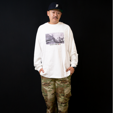 【KISHIWADA CITY】LEPEZEN PHOTO Long Sleeve T-Shirt(WHITE/岸和田駅)