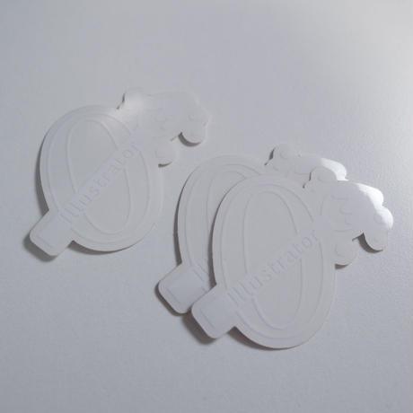 0からイラストレーター ロゴステッカー(3枚セット)