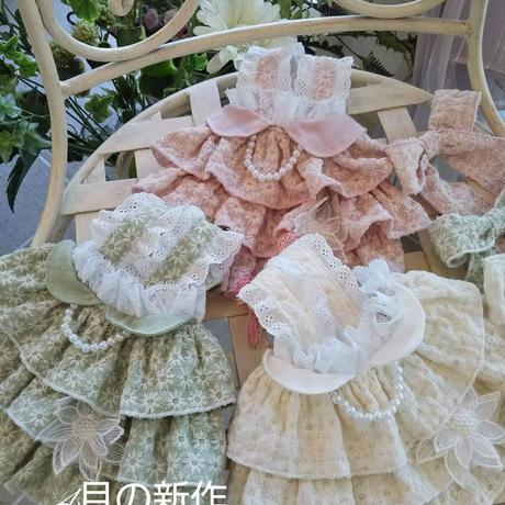 マーガレット刺繍のフリフリチュニックブラウス^^