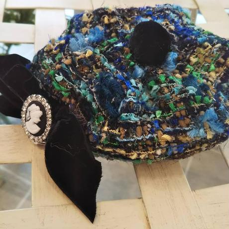 ツイードベレー帽