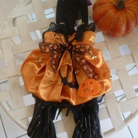 ハロウイン❤ オレンジサテンかぼちゃバルーンワンピ^^