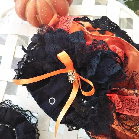ハロウィン🎃 ロイヤルオレンジのハロウィンワンピ