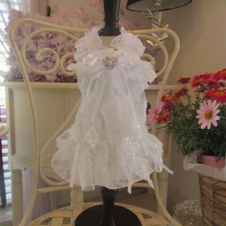 キラキラお花のホワイトドレスワンピ^^
