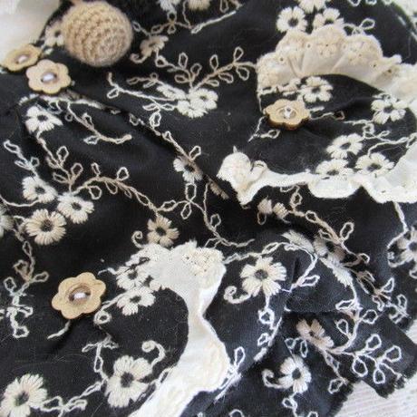 リネン刺繍の重ね着風チュニック^^
