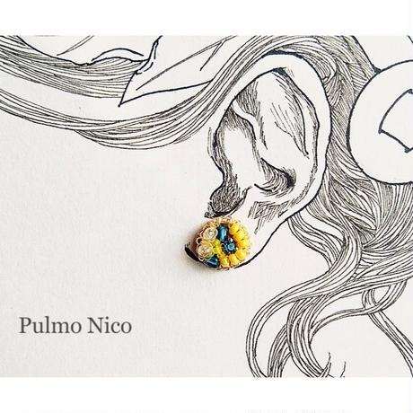 【受注生産】ビーズ刺繍の耳飾り《P-5》