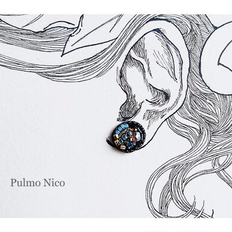 【受注生産】ビーズ刺繍の耳飾り《P-2》