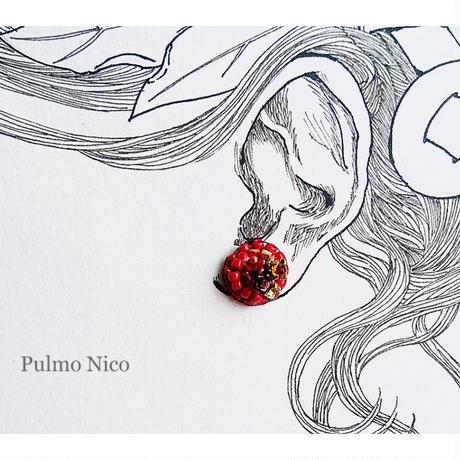 【受注生産】ビーズ刺繍の耳飾り《P-3》